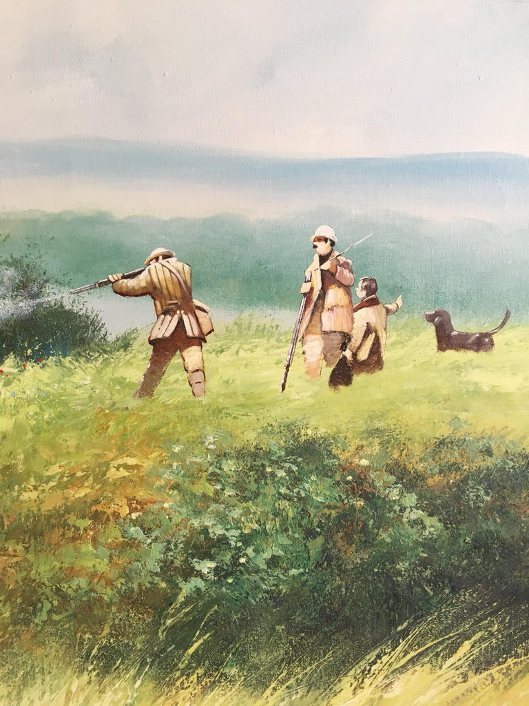 The Shooting Party - Large Signed Oil Painting For Sale 2