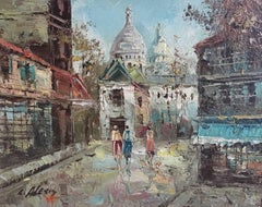 The Streets of Paris, Impressionist Oil Painting, Signed