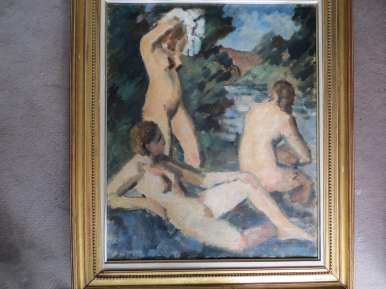 The Three Graces  - Impressionist Painting by Unknown