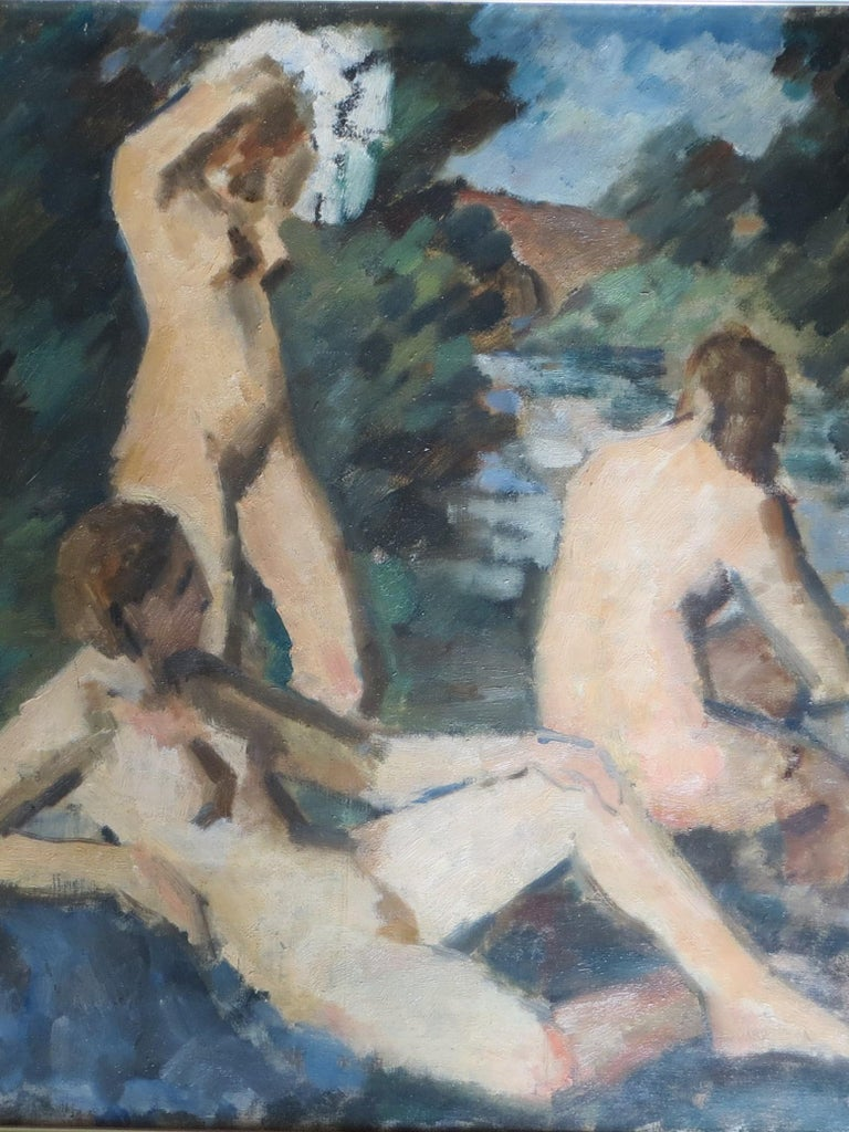 Unknown Figurative Painting - The Three Graces