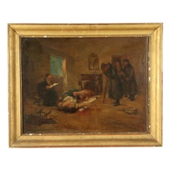 The Tragic Return Oil on Canvas Late 1800s
