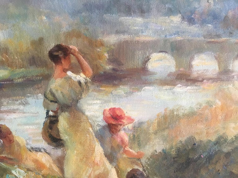 The View from St. Cloud - Post-Impressionist Painting by Unknown