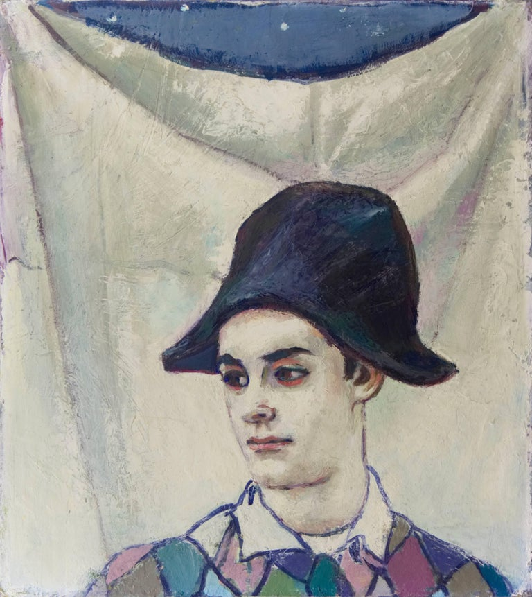 Unknown Figurative Painting - The Young Harlequin