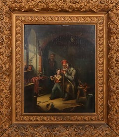 Three Stages in the Life of a Soldier French genre painting early 19th century