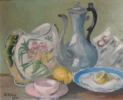 Traditional Tea Pot Still Life, Pastel Colours