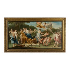 Triumph Of Venus Oil On Canvas Late '700 Early '800, From Cardboard By Cignani C