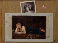 Trompe l'oeil - Oil on Canvas by Unknown Italian Master 19th Century