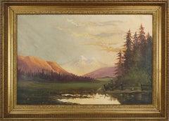 Turn of Century Mount Shasta at Sunrise Landscape