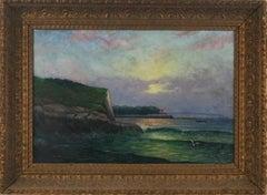 New England Coastal Scene with Steamship