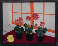 Untitled (2 Lemons, 3 Potted Flowers by a Window)