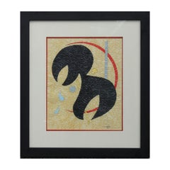 Untitled Abstract Geometric Painting in the Style of Joan Miro