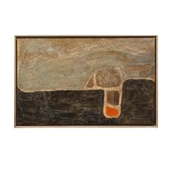 Untitled (Abstract Mid Century Modern Acrylic on Canvas)
