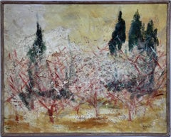 Untitled (Autumnal Landscape in Ochre, Red, Green)