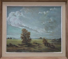 V. Prance - 20th Century Oil, Field View with Sheep