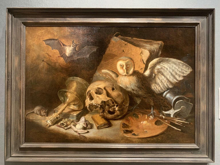 Vanitas Still-Life - Painting by Unknown
