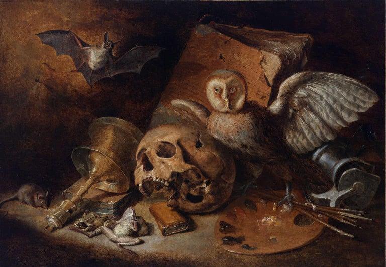 Unknown Still-Life Painting - Vanitas Still-Life
