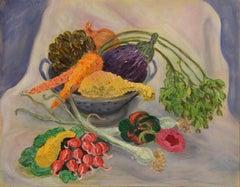 Vegetable Still Life, American Impressionist