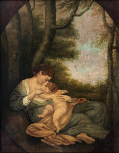 Venus and Cupid Circa Early 19th Century - Oil on panel - Titian - Lorenzo Lotto