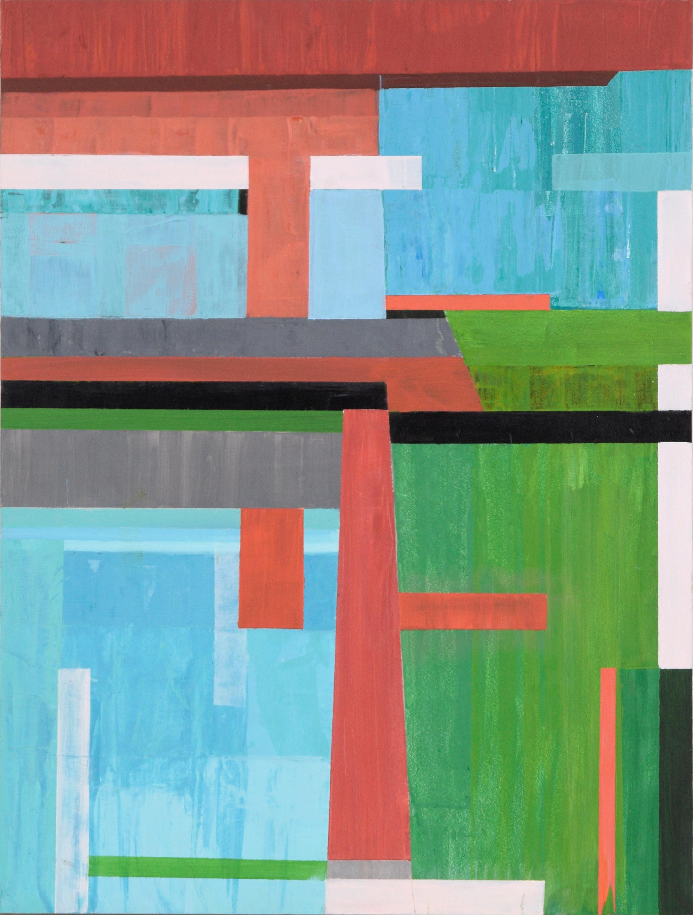 Vertical Abstract Geometric Composition