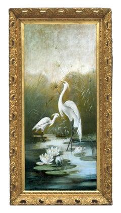 Victorian Snowy Egrets