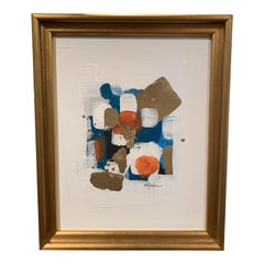 View From Above Gold Framed Abstract