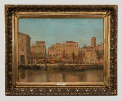 View of Venice - Original Oil on Canvas Late 19th Century