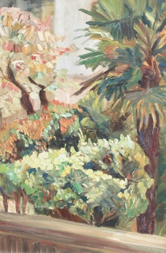 'View Over a Mediterranean Park', French School