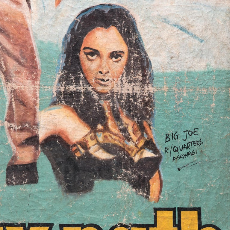 Vijaypath was a Bollywood action hit in 1994. It's critically acclaimed soundtrack topped charts across the world and became one of the most recognizable in India's history. The film's international success is evident in this hand-painted