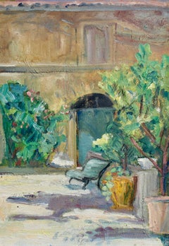 'Villa Courtyard in Provence', French School