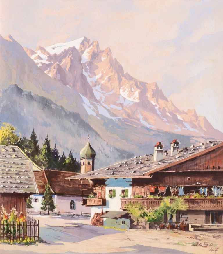 Village in the Ural Mountains - Landscape - Art by Unknown