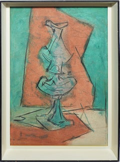 Vintage American Modernist Cubist Flower Still Life Oil Painting Signed Ault