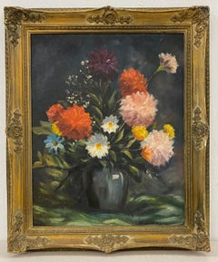 Vintage Floral Still Life Oil Painting C.1940s