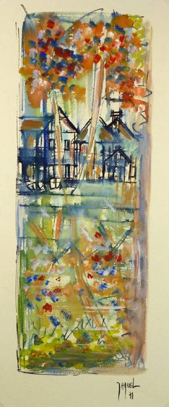 Vintage French Acrylic Painting - Versailles