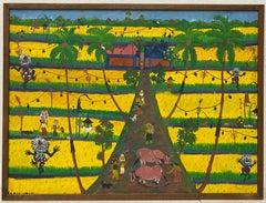 Vintage Haitian Painting c.1960