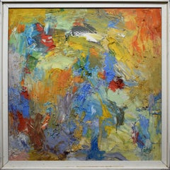 Vintage New York School Abstract Expressionist Oil Original 1950's Oil Painting
