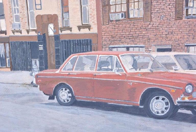 Vintage New York Urban Street Scene Realist Painting '70's For Sale 2