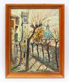 Vintage Paris Modern Impressionist Signed Original Street Scene Oil Painting