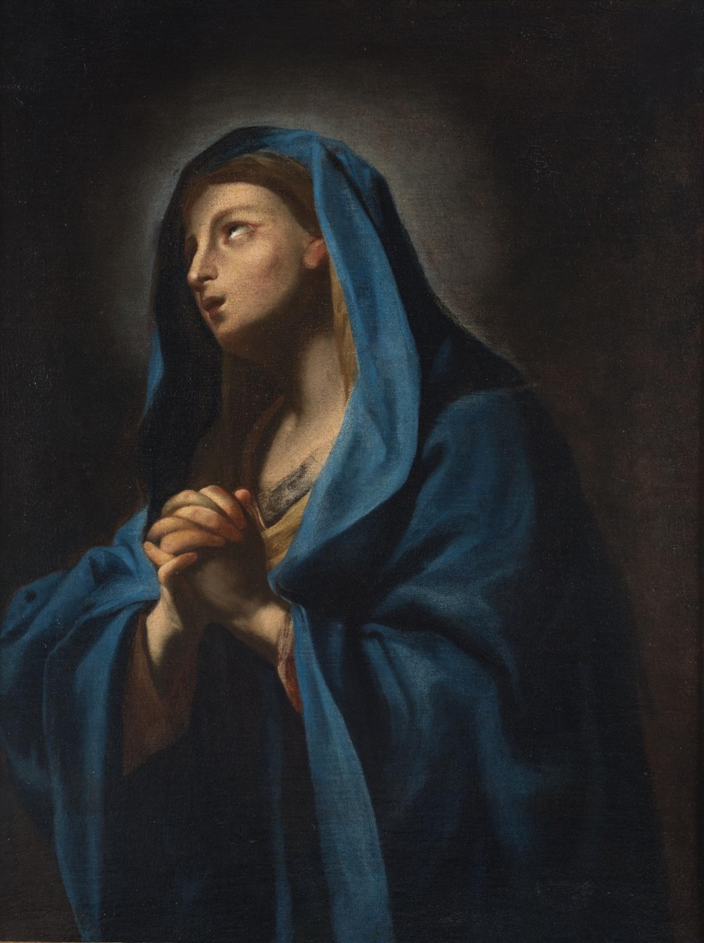 Virgin - Original Oil Painting - 1650s