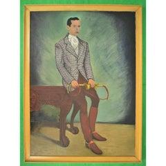 """Virginia Huntsman"" signed BM circa 1941 Oil on Canvas"