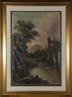 W. Collins - Signed & Framed 20th Century Oil, Brooding Landscape