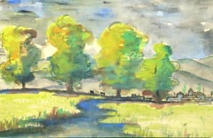 Watercolor - Verdant Landscape