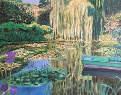 WaterLily Pond Giverny, Impressionist Oil Painting