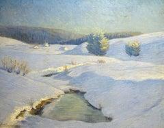 Winter Landscape, Near Maloja, circa 1920  Gottardo Segantini (1882-1975)