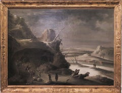 Winter Landscape — Roccocò Italian painter, follower of Francesco Foschi