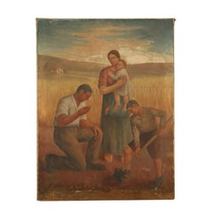 Work in the Fields Oil Painting 20th Century