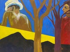 """World of Plenty"" Original Acrylic on Canvas Painting Late 20th Century"