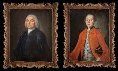 XVIII Century pair of Venetian portraits