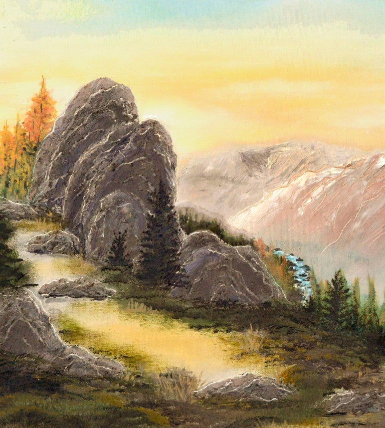 Yosemite High Sierra Sunrise - Midcentury Landscape  - American Impressionist Painting by Unknown