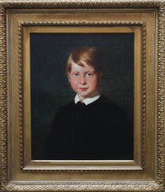 Young Boy - Scottish art 19th Century oil painting male portrait ginger hair
