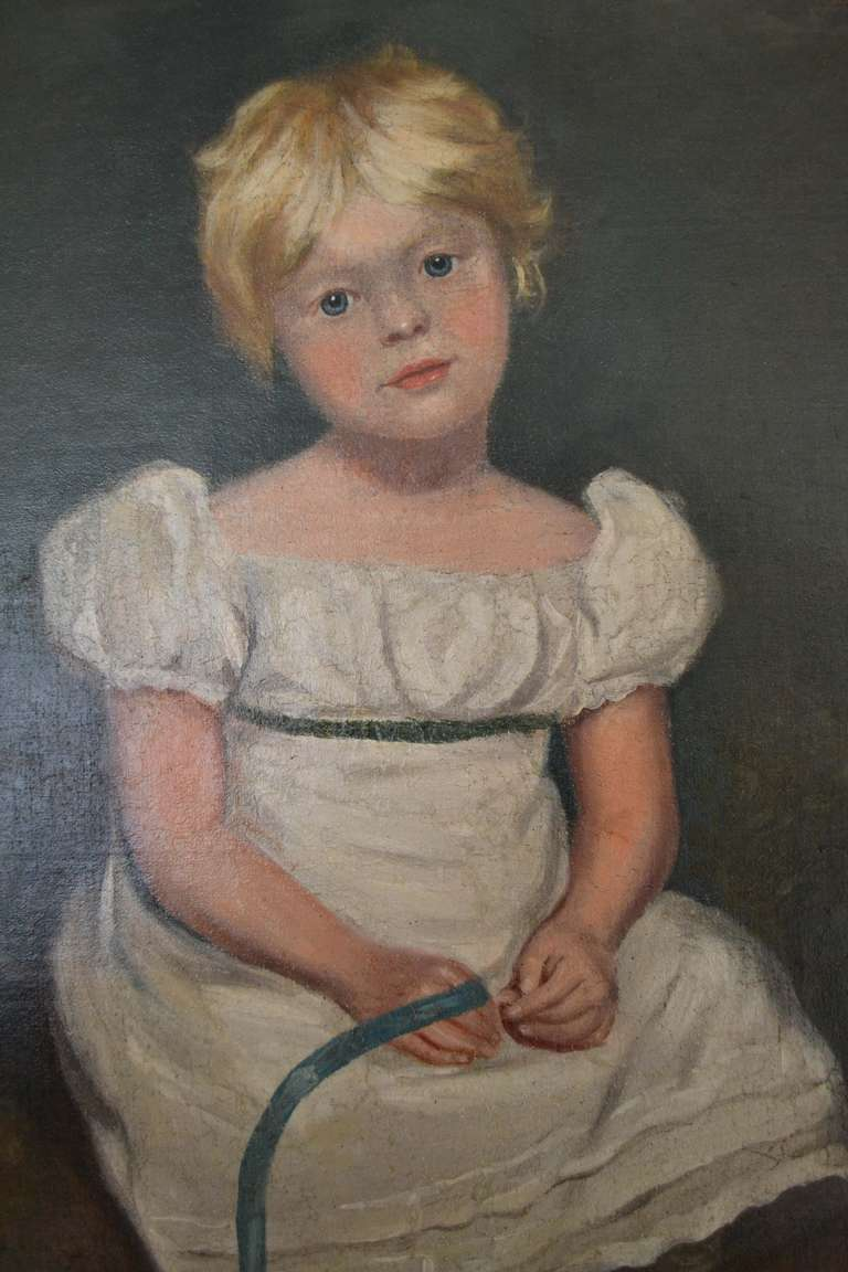 Young Girl after Sir Thomas Lawrence, Regency portrait painting - Painting by Unknown